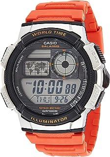 كاسيو ساعة عملية كاجوال للرجال رقمي بلاستيك مطاطي - AE-1000W-4B