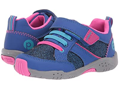 pediped Justice Flex (Toddler/Little Kid) (Blue/Fuchsia) Girl