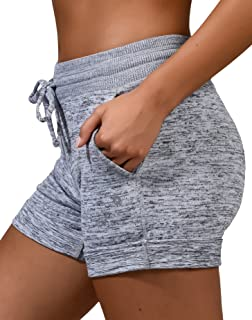 Soft Comfy Activewear Lounge Shorts with Pockets and...