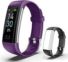 Showyoo Fitness Tracker met Cardiofrequenzimetro Impermeabile IP68, TrackerAttivitàOrologio Contapassi Cronometro Monitor ...
