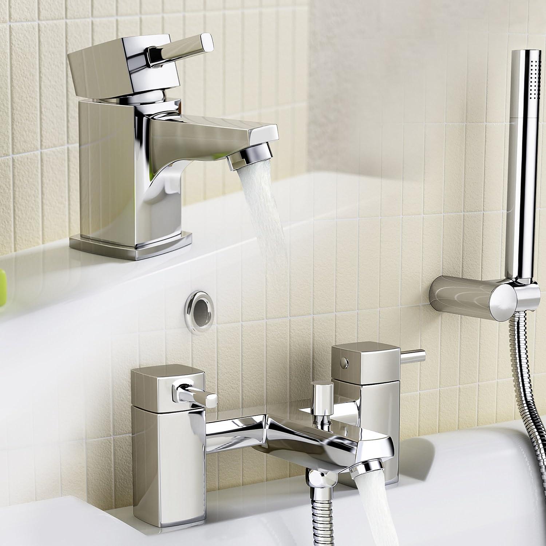 IBathUK   Cloakroom Basin Sink Mixer Tap with Bath Filler Shower Head Set TP67