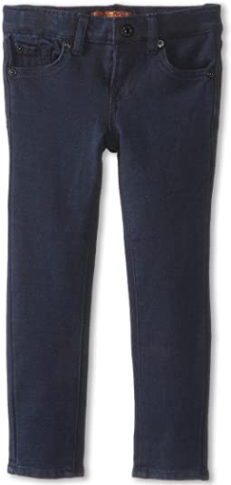 7 For All Mankind Kids Skinny Jean in Indigo Ponte Knit (Little Kids)