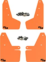 RokBlokz Mud Flaps for 2018 + Subaru Crosstrek - Multiple Colors Available - Mud Guards are Custom Cut and Fit - Includes All Mounting Hardware (Orange with Black Logo)