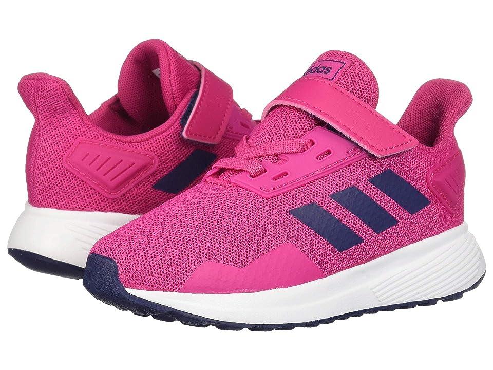 adidas Kids Duramo 9 (Toddler) (White/Magenta/Blue) Girl