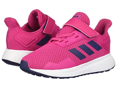 adidas Kids Duramo 9 (Toddler) (White/Magenta/Blue) Girl