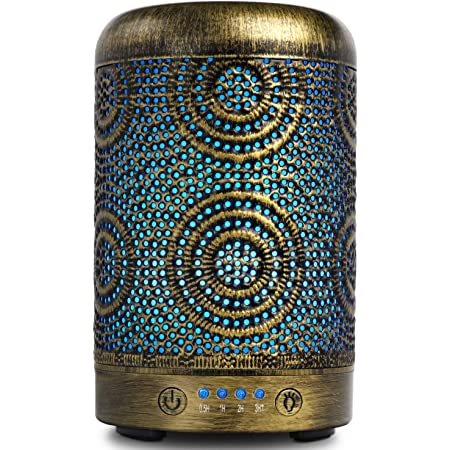 Aromatherapy Diffusers,SALKING 100ml Metal Essential Oils Diffuser,Humidifiers with 7 Colorful LED Lights, Timer and Waterless Auto-Off for Home Decor,Office,Bedroom,Christmas Gifts for Women: Amazon.co.uk: Health & Personal Care