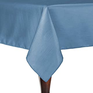 Ultimate Textile Reversible Shantung Satin - Majestic 60 x 108-Inch Rectangular Tablecloth Periwinkle Blue