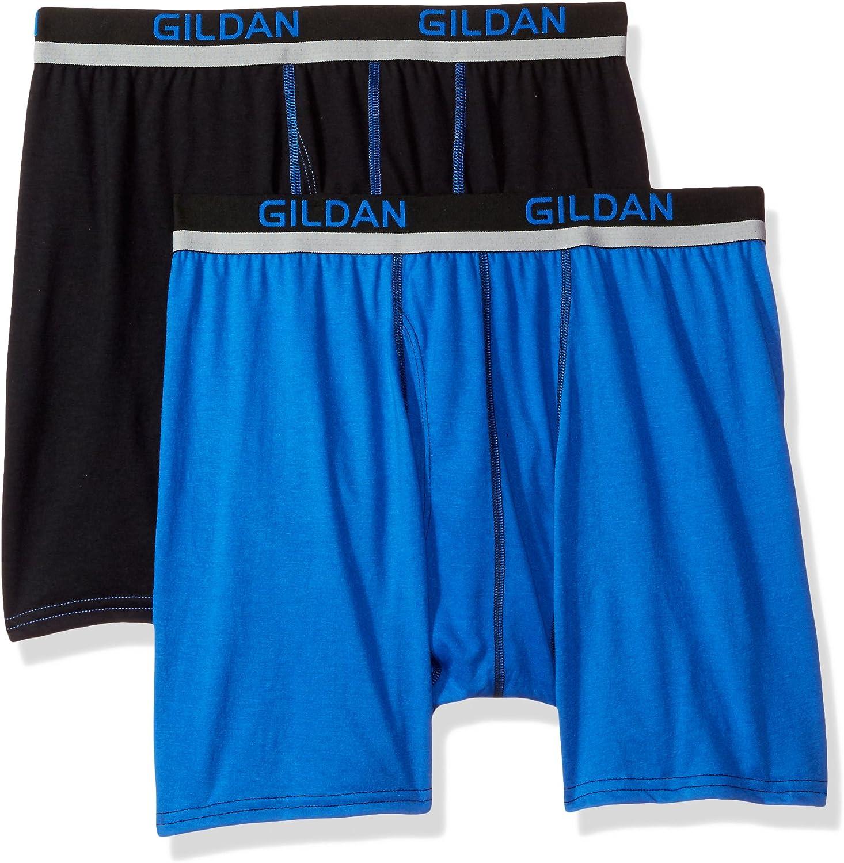 Gildan Men's Active Polyester Boxer Briefs, 2-Pack