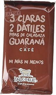 comprar comparacion Barrita Energética 100% natural - Alta en proteínas - Café y Guaraná (55g) - Pack Ahorro de 15 Barritas
