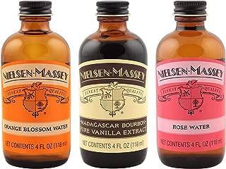 Nielsen-Massey Floral Flavors Product Bundle, 4 ounces