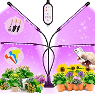 BRITOR Grow Lights for Indoor Plants,4 Head Plant Lights with 80 LED,Auto ON/Off 4/8/12H Timer, 9 Dimmable Level,3 Light M...