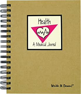 My Health, A Medical Records Journal - Kraft Hard Cover (prompts on every page, recycled paper, read more...)