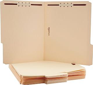 AmazonBasics Manila File Folders with Fasteners - Letter Size, 100-Pack
