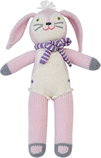 Blabla Fleur The Bunny Mini Plush Doll - Knit Stuffed Animal for Kids. Cute, Cuddly & Soft Cotton Toy. Perfect, Forever Cherished. Eco-Friendly. Certified Safe & Non-Toxic.
