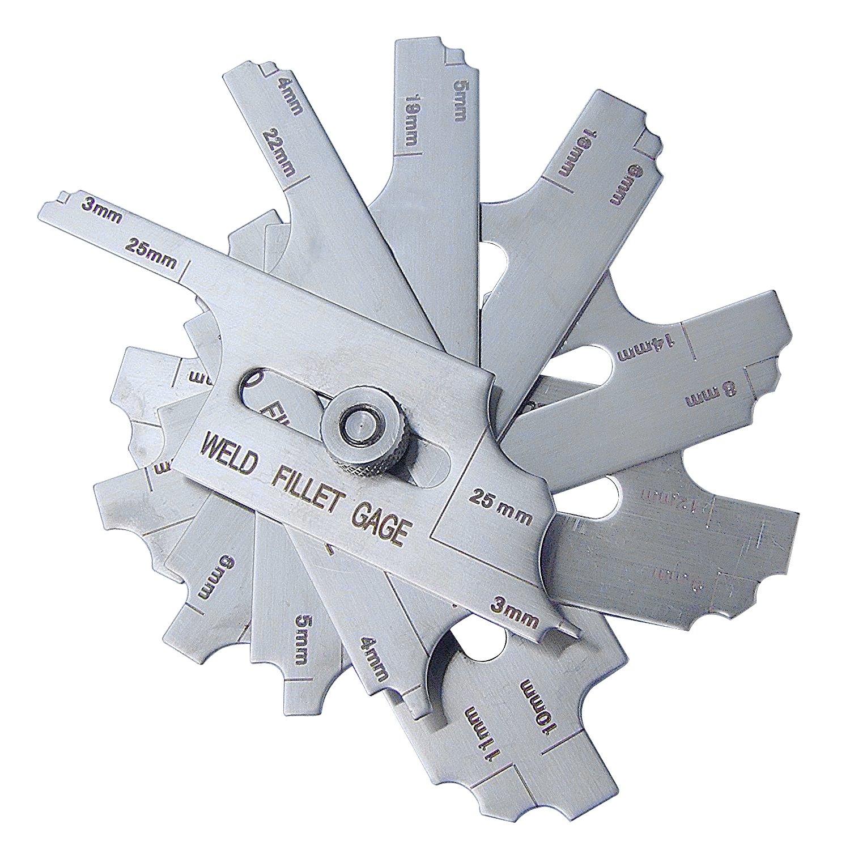 SKEW-T FILLET WELD GAUGE Welding Gage inspection ulnar test ruler