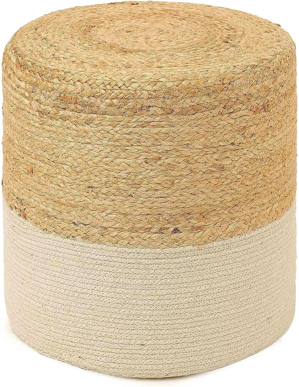 REDEARTH Cylindrical Pouf Foot Stool -Stylish Boho Ottoman Popular High quality product Pouff