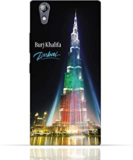 Lenovo P70 TPU Silicone Case with Burj Khalifa Illuminated with UAE Flag Colors - Dubai Design