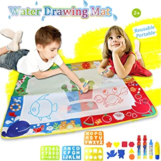 Doodle Drawing Mat Water Doodle Mat 39.X 27 in 4 Colors Aqua Magic Mat Educational Toys for Boy Girl Toddlers Age 2-12 No Mess Kids Toddler Educational Toy Gift