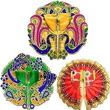 Laddu Gopal God Dress S07 (Set of 3) for Krishna Idol (Ladoo Gopal Poshak) Size - 4 No.