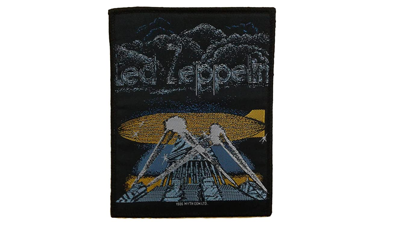 Licensed Led Zeppelin SEW ON Patch Fabric Applique Motif Rock Band Punk Metal 5.1 x 4 inches (12.8 x 10 cm)