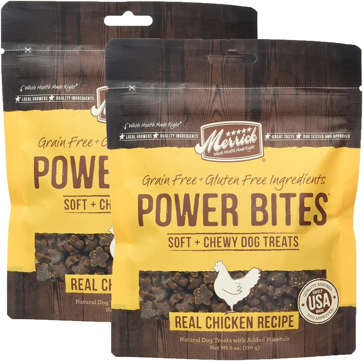 Merrick Grain Free Gluten Free Power Bites Dog Treats 6 oz