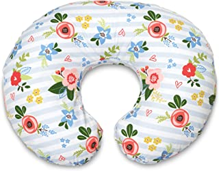 Boppy Original Nursing Pillow and Positioner, Blue Pink Posy, Cotton Blend Fabric with allover fashion