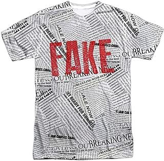 Fake News Halloween Costume Donald Trump Adults Sublimated T Shirt