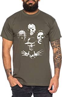 Tee Kiki Horror Icons - Camiseta de Hombre Halloween Michael Horror Myers Pennywise Man 13 Jason Voorhees Nightmare