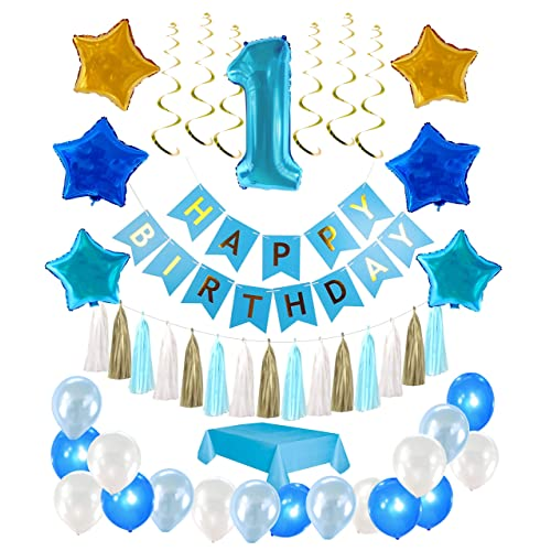 1st Birthday Boy Decorations Kit Complete One Year Party Decoration First Giant