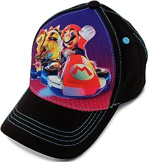 Nintendo Boys' Toddler Mario Kart Character 3D Pop Baseball Cap Black Age 2-4