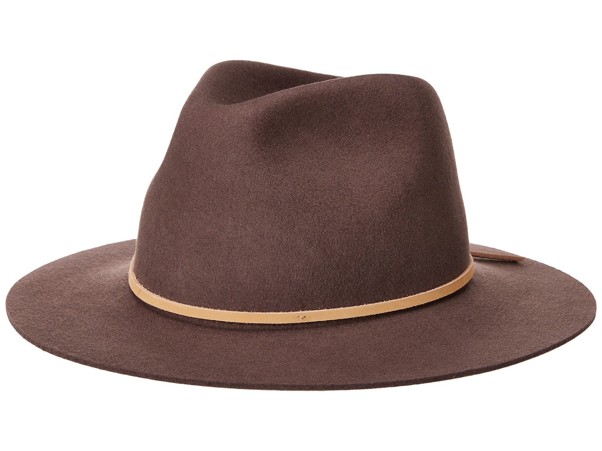 505e7cccefb Brixton Wesley Fedora In Brown Tan