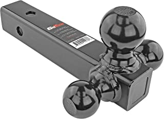 """GoTow GT-10004 Tri-Ball Mount Trailer Hitch, Class 2, 3, and 4 - Fits 2"""" Receiver for Pickup Truck, SUV, Heavy Duty Loads,..."""