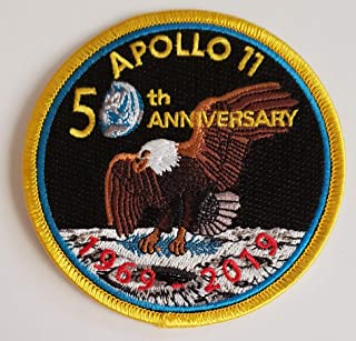 Apollo 11 50th Anniversary 3 Embroidered Patch//RED Date