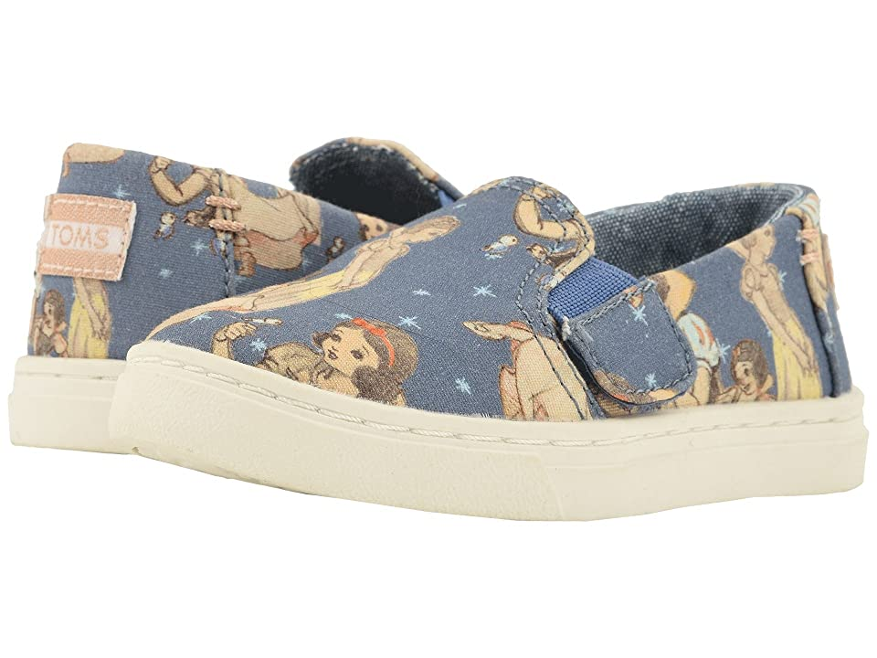 TOMS Kids Luca Disney(r) Princesses (Infant/Toddler/Little Kid) (Blue Snow White Printed Canvas) Girl