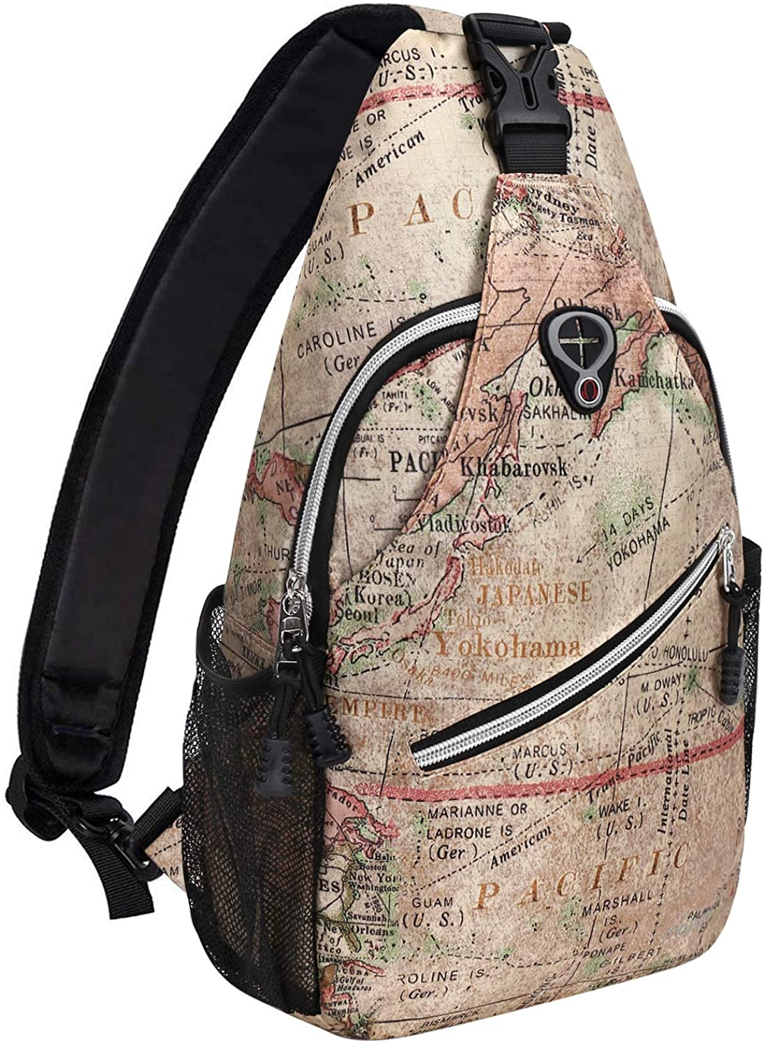 MOSISO Sling Backpack Travel Hiking Spring new work one after another Crossbo Pattern Daypack Rope supreme