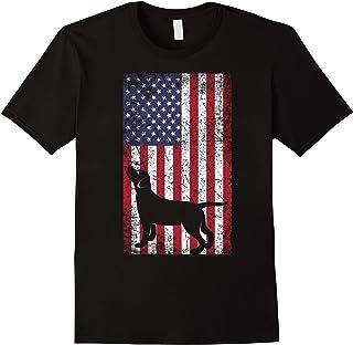 Black Lab Shirt Labrador Retriver USA American Flag Shirt