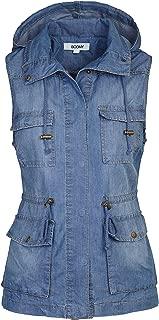 Women's Safari Anorak Vest - Military Hooded Sleeveless Outerwear - Regular and Plus Sizes
