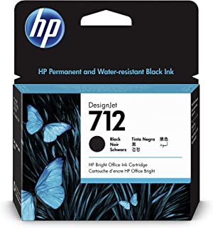 HP 712 3ED71A Black 80-ml Genuine HP Ink Cartridge, high capacity with Original HP Ink, for DesignJet T650, T630, T250, T2...