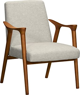 Armen Living Nathan Accent Chair, Champagne Wood