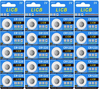 LiCB CR1220 Battery,Long-Lasting & High Capacity CR1220 Lithium Batteries,3 Volt Coin & Button Cell (20-Pack)