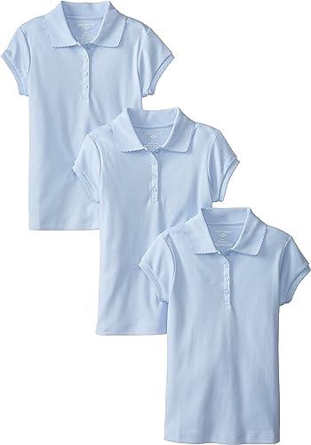 Dockers Big Girls' Plus-Taille Uniform 3 Pack manche courte Polo Bundle, lumière bleu, X-grand