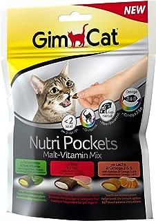 comprar comparacion GimCat Nutri Pockets – Snack crujiente para gatos: provisto de relleno cremoso e ingredientes funcionales – Sin azúcar aña...