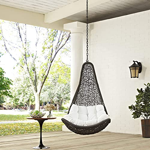 Superieur Modway EEI 2657 GRY WHI SET Abate Wicker Rattan Outdoor Patio Balcony