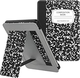 MoKo Case Fits All-New Kindle (10th Generation - 2019 Release), Slim PU Leather Stand Smart Cover Shell with Hand Strap, W...