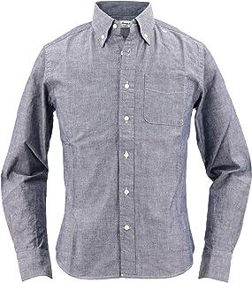 [SWEEP!! LosAngeles スウィープ ロサンゼルス] メンズ シャンブレー ボタンダウンシャツ CHAMBREY NAVY(ネイビー)