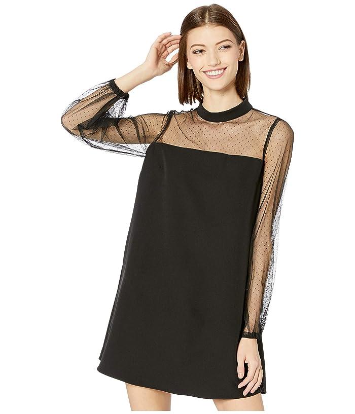 Jack by BB Dakota  In The Mesh Crepe Shift Dress (Black) Womens Dress