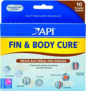 API Fin & Body Cure Freshwater Fish Powder Medication 10Count Box