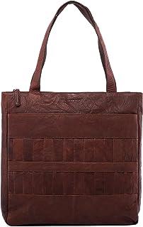 LEABAGS Cirebon Handtasche aus Echtem Büffel-Leder im Vintage Look