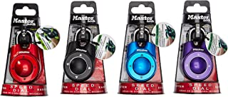 Master Lock 1500iD Speed Dial Combination Lock, Assorted Colors, 4-Pack,