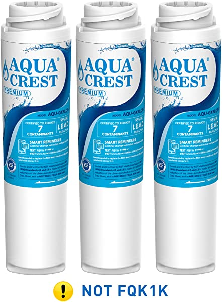 AQUA CREST NSF 53 42 GXRLQR Inline Water Filter Compatible With GE SmartWater Twist And Lock In Line GXRLQR Water Filter Pack Of 3
